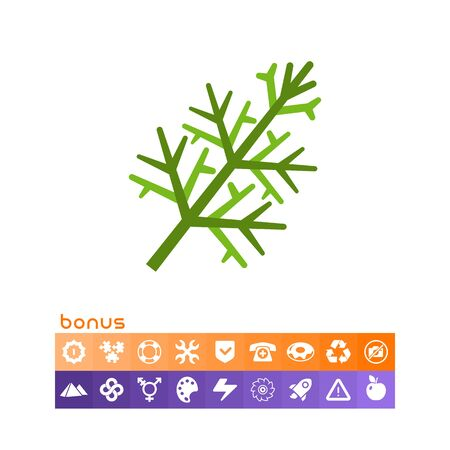 Dill flat icon Stock Vector - 84356929