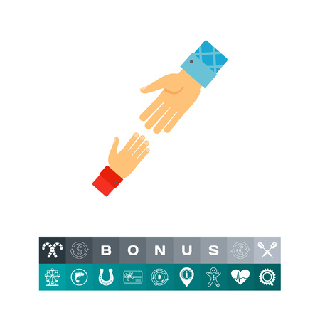 Helping hand icon Illustration