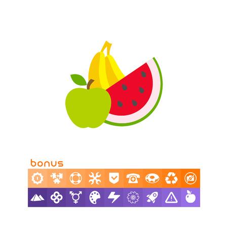 Apple, banana, water melon