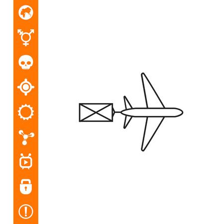 Luchtpictogram op witte achtergrond, vectorillustratie.