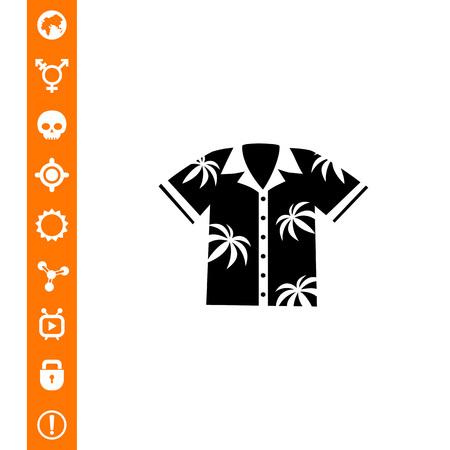 Aloha Shirt Icon Illustration