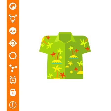 Aloha Shirt Vector Icon Illustration