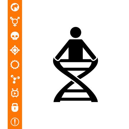 cromosoma: Anatomía simple icono