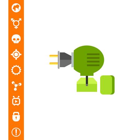 fumigador: Icono de vector multicolor de ilustración de vector de fumigador anti-mosquito.