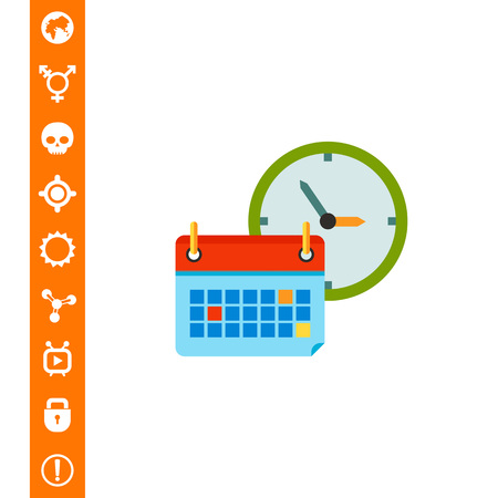 Back to School Concept Icon with Calendar Illustration