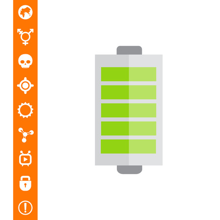 indication: Battery with charge indication Illustration