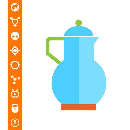 Icon of blue jug with lid
