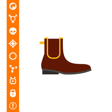 Chelsea Boot Icon vector illustration.
