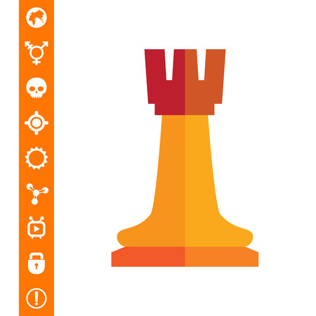 chess rook: Chess rook icon vector illustration.
