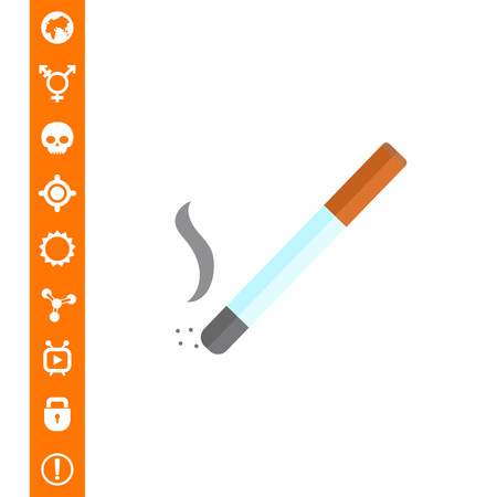 Cigarette icon on white background, vector illustration.
