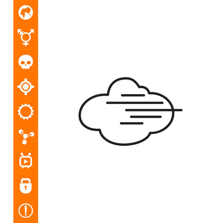 Icon of cloud and fog sign