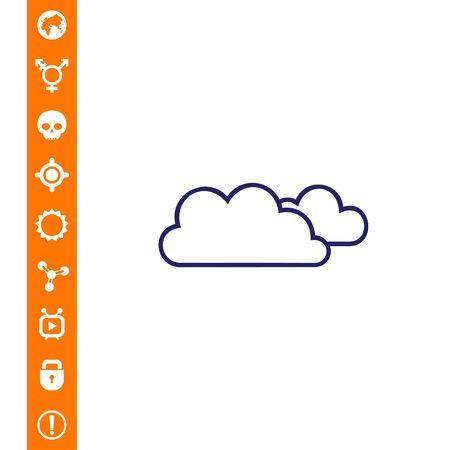 雲のベクトル図のアイコン。