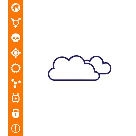 Icon of clouds vector illustration.