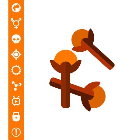 Cloves flat icon Illustration