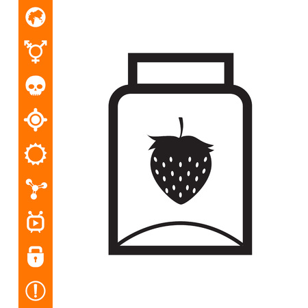 Empty jam jar icon Çizim