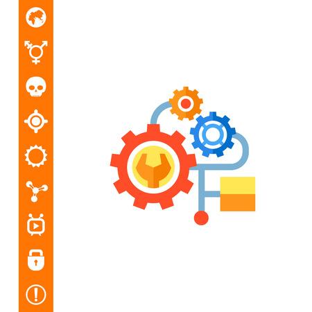 Engineering flat icon