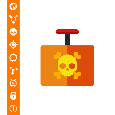 Explosive Detonator Vector Icon vector illustration.
