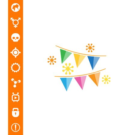 festive: Festive garland. Illustration