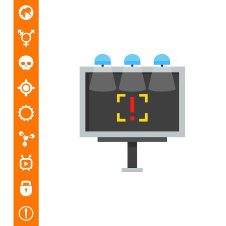 bracket: Billboard Advertising Vector Icon