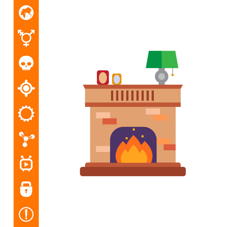 Brick fireplace icon