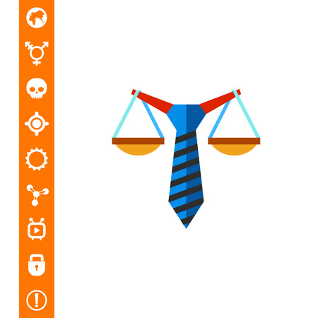 scale of justice: Business Law Concept Flat Icon