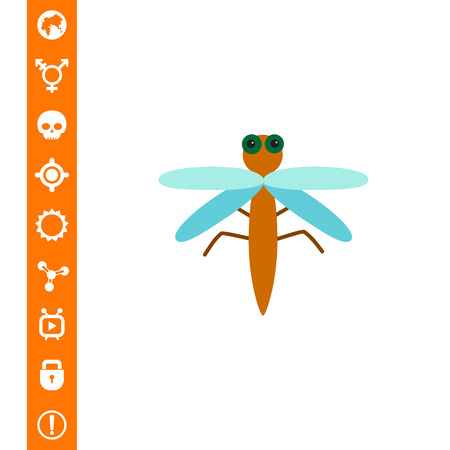 Cartoon dragonfly icon Illustration