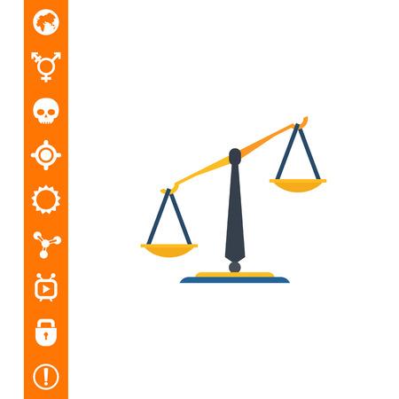 Classic balance icon Illustration