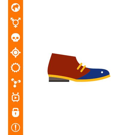 Desert Boot Icon Illustration