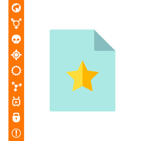 Document with yellow star