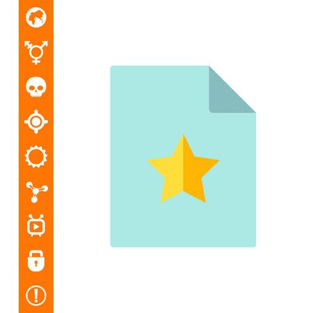 comunicación escrita: Documento con la estrella amarilla