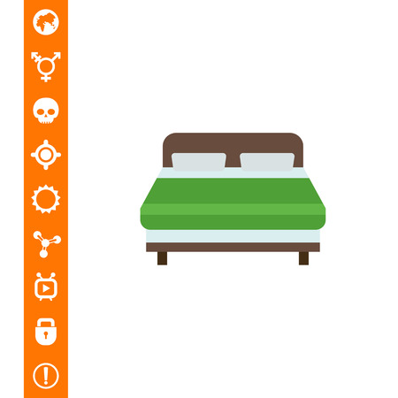 Double bed icon Illustration