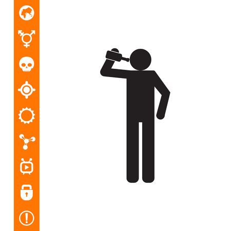 Drinking man icon