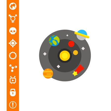Model of galaxy. Planets, comet, stars, solar system, Sun. Galaxy concept. Can be used for topics like education, astronomy, science