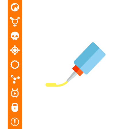 Glue tube. Office, fixing, tool. Glue concept. Can be used for topics like stationery, business, marketing.