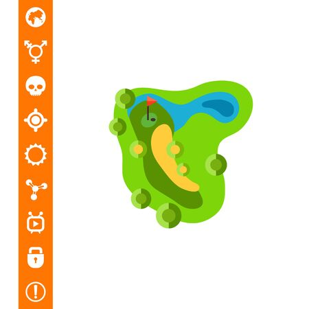 Golf course. Map, landscape, competition. Golf concept. Can be used for topics like golf, sport, games.