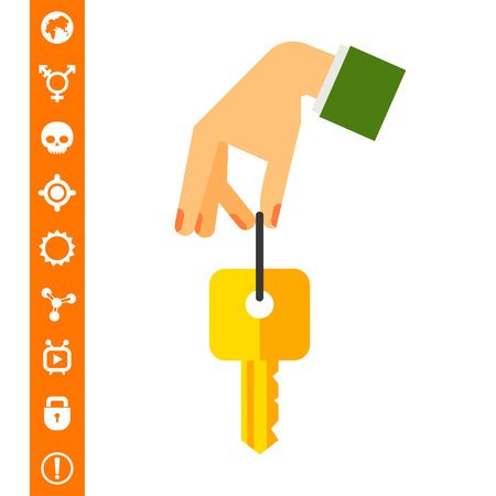 Hand with Key Icon