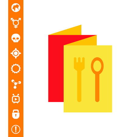 folded menu brochure with spoon and fork images choice ingredient