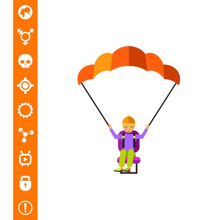 Paraglider Vector Icon