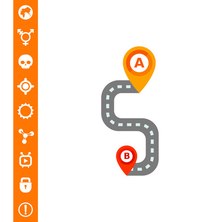 Path on Road Vector Icon Illustration