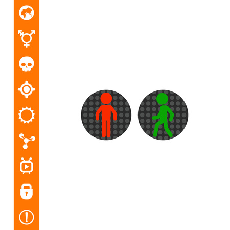 stop and go light: Pedestrian Traffic Lights Vector Icon