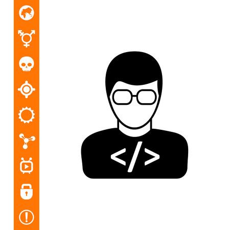 html: Programmer simple icon Illustration