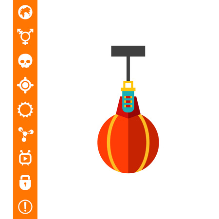 Multicolored vector icon of scope punching bag