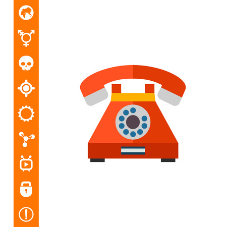 Retro telephone icon Vector illustration.