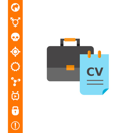 recruiting: Recruiting Concept Icon with CV Illustration