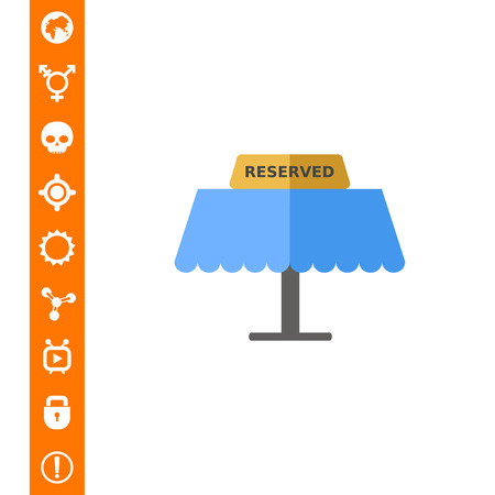 Reserved Tablet on Table Icon