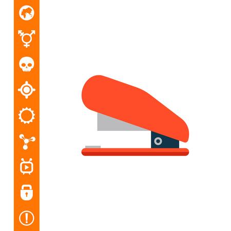 Red stapler icon Illustration