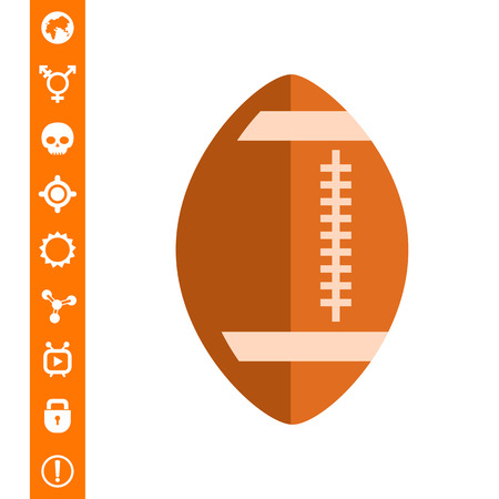 Rugby bal pictogram
