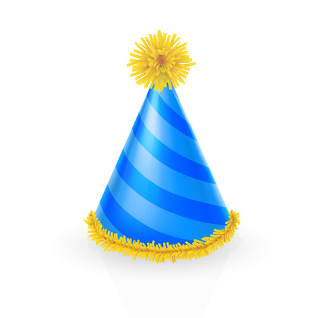 festive occasions: Decorated party hat Illustration