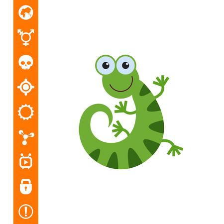 Lizard icon vector illustration.