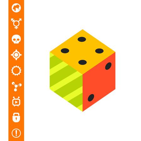 argumentation: Logic Flat Icon vector illustration.